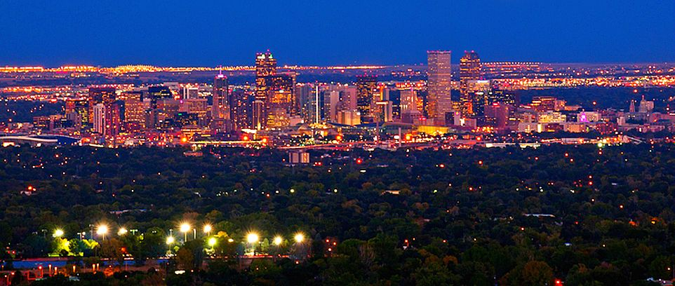 City of Denver at Night