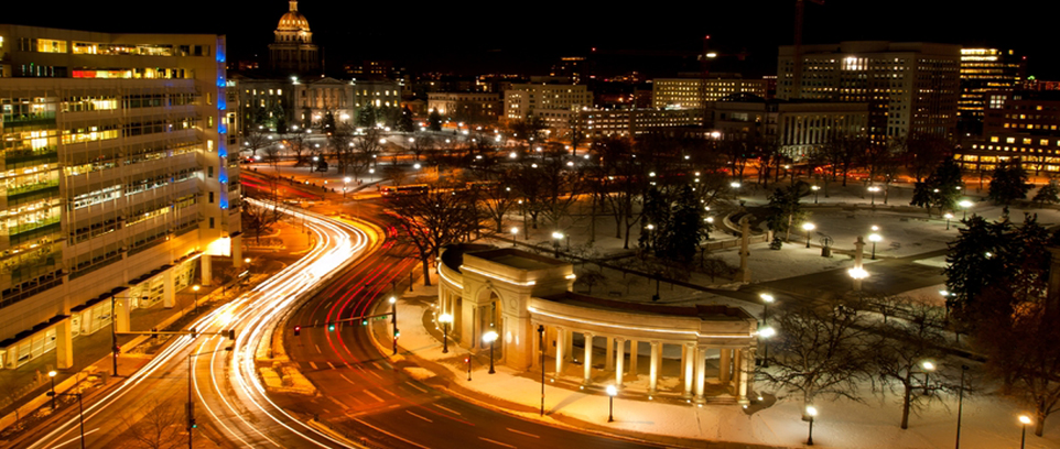 Denver Civic Center at Night